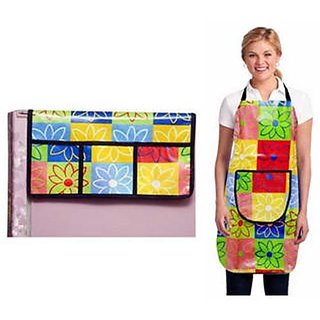 Stylish Design Fridge Top Cover with Apron (pack of 2) A-08