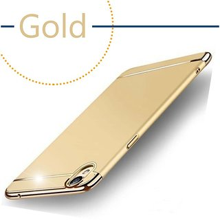 Oppo R9 Plain Cases Motomo  Golden