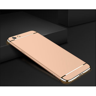 Vivo V7 Plain Cases Motomo  Golden