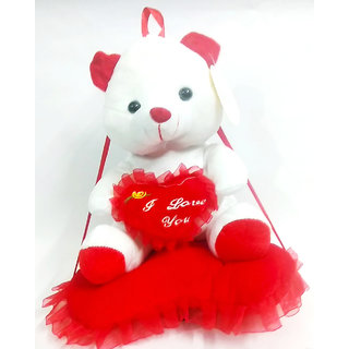 MS SONS & GIFT ARTS RED TEDDY (SET OF 1) Soft Stuffed Spongy Huggable Cute Teddy Bear Birthday Gifts Girls Lovable Special Gift High Quality ...