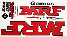 MRF Genius Cricket Bat Red Sticker