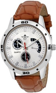 SCK by Vivah mart Round Dail Brown Leather StrapMens Quartz Watch For Men