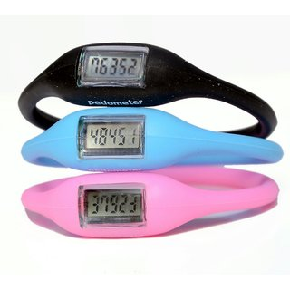 Other Fashion Sports Pedometer Silicon Fitness Band (Assorted Colors)