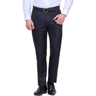 Inspire Premium Blue Slim Formal Trouser