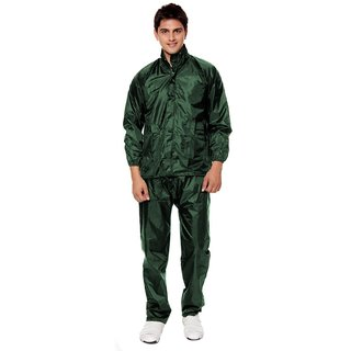 Unique Green Plain Raincoat With Lower And Cap (3 In 1)