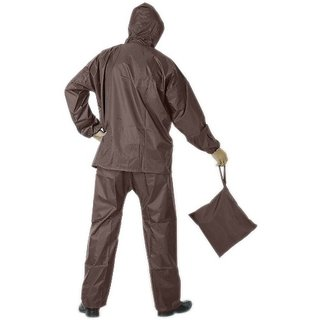 Unique Brown Raincoat With Lower And Cap (3 In 1)
