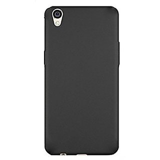 Premium Soft Silicone Matte Back Case Cover For Oppo 57 Black