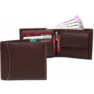 5a3098fcdd Buy JusTrack Men Brown Genuine Leather Wallet (6 Card Slots) Online - Get  60% Off