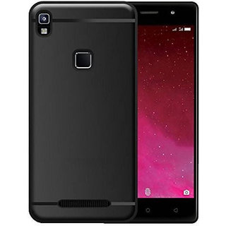 Premium Soft Silicone Matte Back Case Cover For Lava Z80 Black