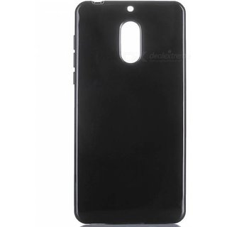 Premium Soft Silicone Matte Back Case Cover For Nokia 6 Black