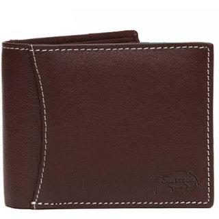 JusTrack Men Brown Genuine Leather Wallet  (6 Card Slots)