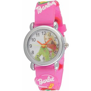 TRUE CHOICE BRABI PINK FABRIC RICH LOOK ANALOG WATCH FOR GIRLS.