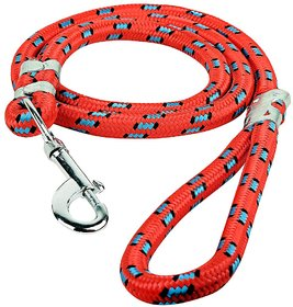 W9 High Quality Red Nylon Rope Leash For Large Breed Do