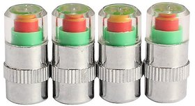 4PCS Car Auto Tyre Pressure Monitor Valve Stem Caps Sensor Indicator Eye Alert Diagnostic Tools Kit
