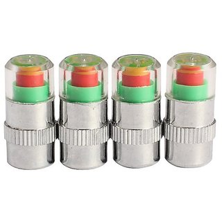 4PCS Car Auto Tyre Pressure Monitor Valve Stem Caps Sensor Indicator Eye Alert Diagnostic Tools Kit