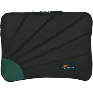 Protecta Rays Laptop Sleeve for MacBook Air/MacBook Pro Retina & Other Slim Profile 13 inch Laptops (Black & Sea Green)