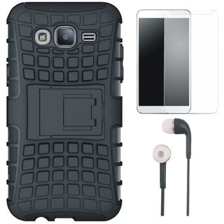 Redmi 4 Shockproof Tough Defender Cover with Earphones and Tempered Glass