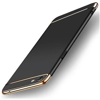 vivo V7 plus Plain Cases ClickAway - Black with free selfie stick