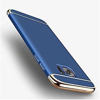 Samsung Galaxy J7 Max Plain Cases ClickAway - Blue with free selfie stick