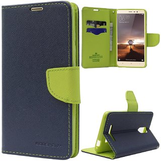 Lenovo A6000 Flip Cover by ClickAway  Blue