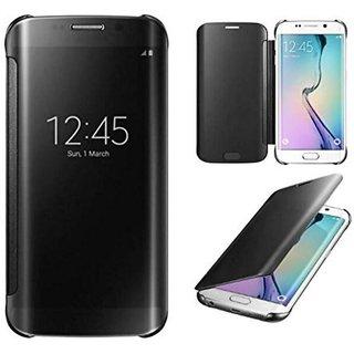 Samsung Galaxy On8 Flip Cover by ClickAway - Black