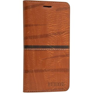 Oppo F1s Flip Cover by ClickAway - Brown
