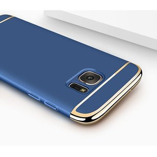Samsung Galaxy J7 Prime Plain Cases ClickAway - Blue with free selfie stick