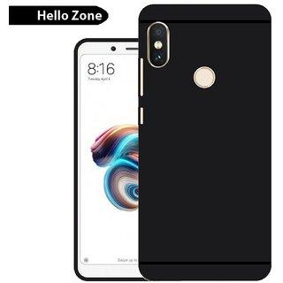 Redmi Note 5 Pro Plain Cases ClickAway - Black