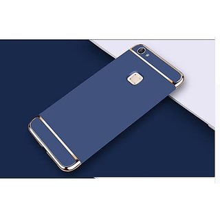 vivo V7 plus Plain Cases ClickAway - Blue with free selfie stick