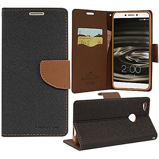 Oppo F3 Flip Cover by ClickAway  Brown