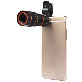 Universal Clip Camera Mobile Phone 8x Optical Zoom Lens Telescope for Mobile Phone