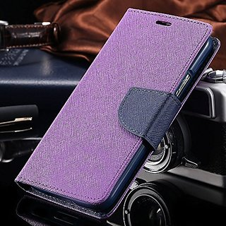 Oneplus 6 Flip Cover by ClickAway  Purple