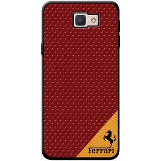 Cellmate Leather   Back Cover for Samsung J5 Prime - Red