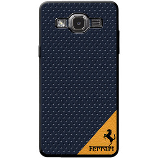 Cellmate Leather   Back Cover for Samsung J2 2016 - Blue