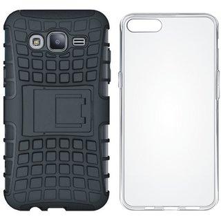 Lenovo K6 Note Shockproof Tough Defender Cover with Silicon Back Cover, Free Silicon Back Cover