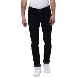 Urbano Fashion Men's Stretchable Slim Fit Black Jeans
