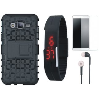 Redmi Y1 Shockproof Tough Armour Defender Case with Free Digital LED Watch, Tempered Glass and Earphones