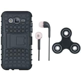 Lenovo K6 Power Defender Back Cover with Kick Stand with Earphones and Spinner