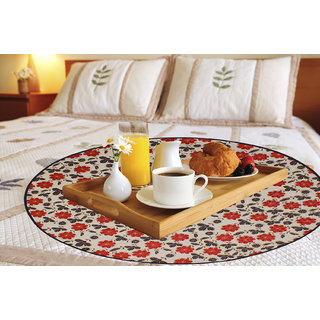Dream Care Printed Waterproof & Oilproof Square Bed Server/Food Mat/Bed Serving Mat