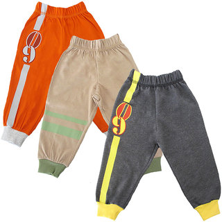 Magic Train Infant Cotton Joggers (Pack of 3)
