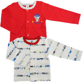 Magic Train Infant Cotton Casual T-Shirts (Pack of 2)