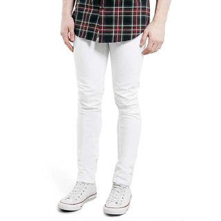 Rock Hudson Men's Strechable Denim Jeans - Regular Fit - White