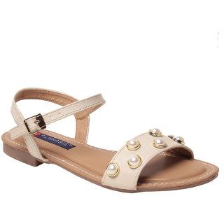 MSC women Synthetic Cream sandal