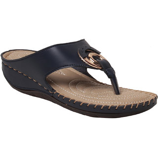 MSC women Synthetic Black sandal