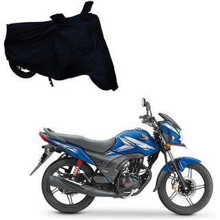 ABS Auto Trend Black Polyester Water Resistant Honda CB Shine Bike Covers