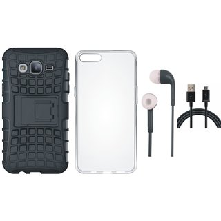 Redmi Y1 Lite Shockproof Tough Defender Cover with Silicon Back Cover, Earphones and USB Cable