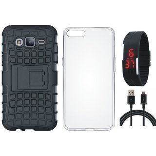 Redmi Y1 Lite Shockproof Tough Defender Cover with Silicon Back Cover, Digital Watch and USB Cable