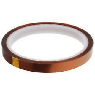 INVENTO 10mm x 30M Kapton Tape High Temp. Heat Resistant for 3D Printer/Electronics/DIY