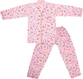 Dhir Fashions Branded Comfortable Premium Value Ultra Soft Cotton Pink Night Suit