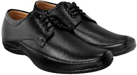Blinder Black Flat Sole Derby Formal Shoes For Men